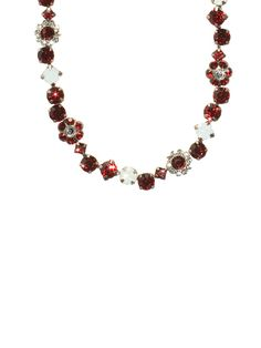 Crimson Pride classic Swarovski crystal floral necklace by Sorrelli
