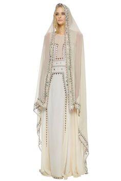 Beach brides, rejoice! Mara Hoffman's got your gown #weddings #brides #weddinggowns
