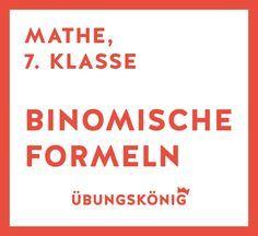 Binomische Formeln Kostenlose Arbeitsblatter Mit Ubungen Und Aufgaben Inkl Losungen Fur Mathe Am Gymnasium 7 Und 8 Binomische Formeln Mathe Mathe Formeln