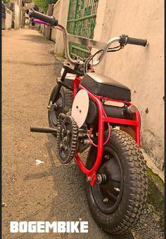 BogemBike Mini Motorbike, Trike Motorcycle, Build A Go Kart, Electric Go Kart, Go Kart Plans, Mini Chopper, Bike Magazine, Bike Sketch, Motorised Bike