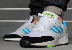 separation shoes e1bb8 7b821 adidas Originals Tech Super - White - Solar Blue - Solar Green -  SneakerNews.com