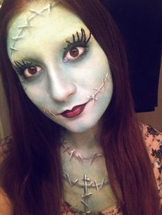Lovely Sally (Nightmare Before Christmas) makeup.