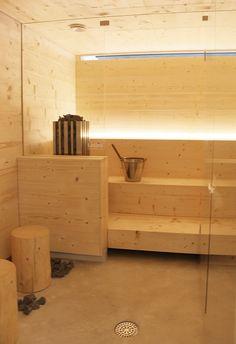 asuntomessut_maja_sauna Sauna Lights, Modern Saunas, Traditional Saunas, Sauna Steam Room, Sweet Home Design, Sauna Design, Finnish Sauna, Portable Spa, Laundry In Bathroom