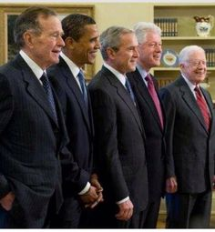"The second President from the left has been viciously attacked since day one of his Presidency. He's been blocked from passing bills that would help the American people. He's being attacked for wars he didn't start. He's the first sitting President to be sued by congress. Why is he any different from the other Presidents in this picture? The answer is a ""Black Eye"" on this country!! President Obama needs our support and prayers more than ever. We need ""Louder Voices"" from our Democratic…"