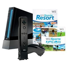 #Shopping #Bargain #Deals Wii with Wii Sports Resort - Black  From Nintendo  List Price:$199.99  Price:$149.98