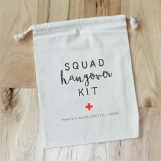SQUAD Hangover Kit  Personalized Favor Bags  Set of 10