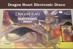 Dragon Heart Electronic Draco. Large electronic Draco dragon from the movie Dragon Heart (1996?). Requires 3 AA batteries (not included) - Draco roars, heart beats and glows, speaks two phrases. Posable wingfs, legs, and upper jaws - nearly 30 inch wingspan.