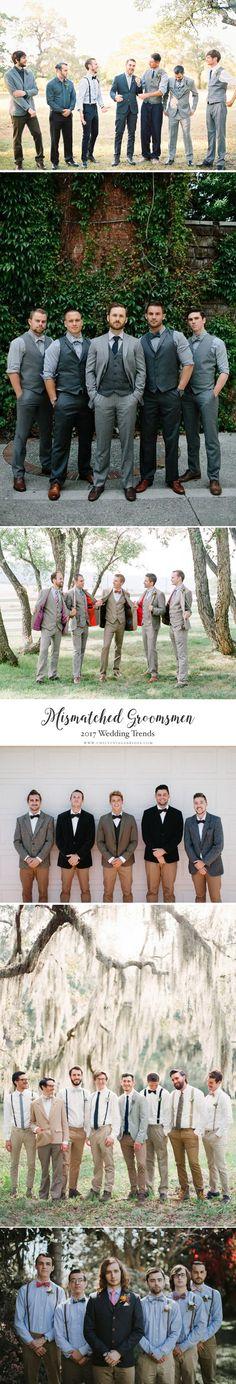 Top Wedding Trends 2017 - Mismatched Groomsmen
