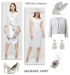 Jacques Vert pale grey dress and jacket MOTB occasionwear