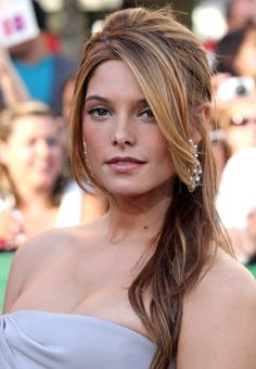 celebrity half up half down hairstyles - Google Search