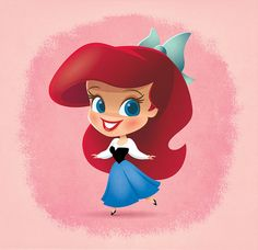 [MERMAID] Little Disney Princess - Ariel by Jerrod Maruyama, via Flickr #disney #ariel #illustration