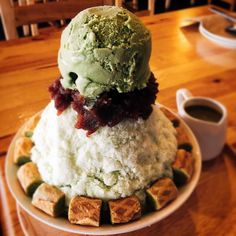 What do you need for hot summer#bingsu#greenteaicecream