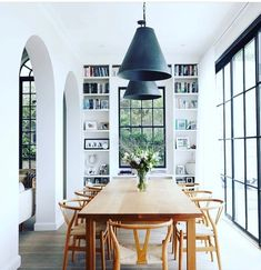 Dining Room Inspiration: 10 Scandinavian Dining Room Ideas You'll Love Dining Room Design, Dining Room Furniture, Furniture Ideas, Dining Rooms, Dining Tables, Lighting Over Dining Table, Wood Furniture, Coffee Tables, Furniture Design