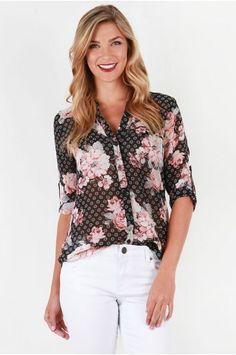 88de5761 Stitch Fix, Blouse, Clothes, Style, Floral Tops, Fashion, Jasmine,