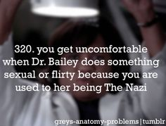 #Grey's Anatomy Problems but i have to admit i like her new nickname BCB all the way! lol