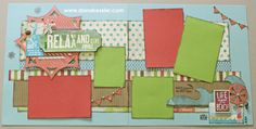 Two page scrapbooking layout beach summer Seaside CTMH Cricut #scraptabulousdesigns #cricut #ctmh