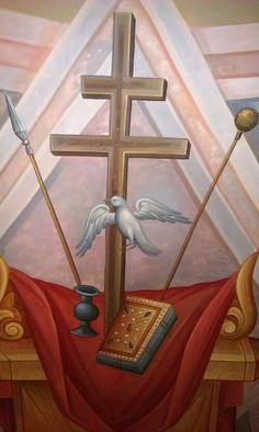 image Religious Icons, Religious Art, Spiritus, Holy Cross, Orthodox Icons, Sacred Art, Christian Faith, Style Icons, Sculptures