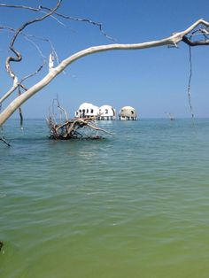 Abandoned dome house in Cape Romano, FL. Built as a dream house, hurricanes have wiped out the island it once stood on.