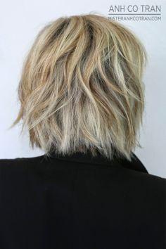 MIAMI: CHIC LAYERED BOB. Cut/Style: Anh Co Tran. Appointment inquiries please call Ramirez|Tran Salon in Beverly Hills: 310.724.8167.