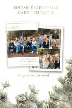 Spread some holiday cheer this season with a Christmas Card Template. Your beautiful family photos will look perfect in this minimalist 5x7 Christmas card. You can quickly and easily edit your card online in your web browser, then download and print right away! Choose from a Year in Review or just photos for the back! Both options included! Demo Now! #ChristmasCards #ChristmasCardIdeas #ChristmasTemplate #ChristmasCard #HolidayPhotoCard Merry Christmas Family, Christmas Cards, Costco Home, Christmas Card Template, Minimalist Christmas, Holiday Photo Cards, Beautiful Family, Text Color, Family Photos