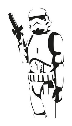 Badass Stormtrooper full Vector PDF file - Star Wars Stormtroopers - Ideas of Star Wars Stormtroopers - Star Wars Stencil, Stencil Art, Stenciling, Star Wars Wall Art, Stencil Graffiti, Star Wars Silhouette, Anime Tatoo, Wall Stickers, Star Wars Art