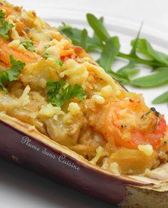 Aubergines gratinées aux crevettes | Une Plume dans la Cuisine