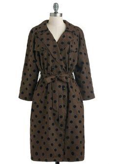 Dots a Wrap Coat, #ModCloth