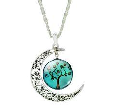 Dámský náhrdelník s měsícem strom světle zelený- dámské náhrdelníky Na tento produkt se vztahuje nejen zajímavá sleva, ale také poštovné zdarma! Využij této výhodné nabídky a ušetři na poštovném, stejně jako to udělalo již velké …
