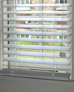 New House: How To Shorten Faux Wood Blinds.Super!