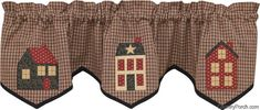 ★country Primitive Home Place Lined Applique Valance by Park Designs ★ Quilted Curtains, Lined Curtains, Window Curtains, Curtain Valances, Window Cornices, Country Valances, Country Curtains, Cortinas Country, Balloon Curtains