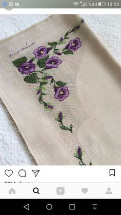 Napkins, Cross Stitch Embroidery, Dots, Flowers, Towels, Dinner Napkins
