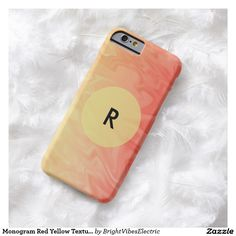 Monogram Red Yellow Texture Barely There iPhone 6 Case