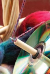 Learn how to spin, how to make a drop spindle, and how to use a drop spindle