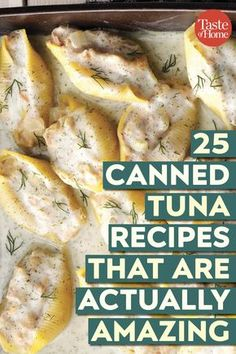25 Canned Tuna Recipes That Are Actually Amazing Keep these canned tuna recipes in your back pocket to pull out on a busy day. - 25 Canned Tuna Recipes That Are Actually Amazing Tuna Dishes, Fish Dishes, Seafood Dishes, Fish And Seafood, Tuna Fish Recipes, Canned Tuna Recipes, Sardine Recipes, Pollock Fish Recipes, Canned Chicken