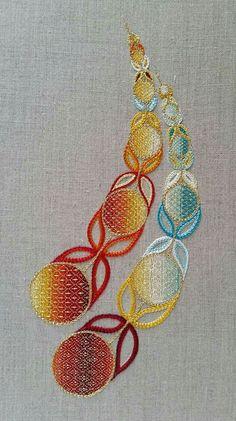 Circular geometric embroidery designs