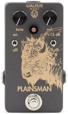 Plainsman Dual Stage Clean Boost Guitar Pedal - Clean Boost with Volume, Engage or Bypass Tone Control, 8 or 15 decibel Max Output. True Bypass Switching.