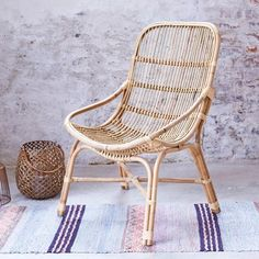Fauteuil in rotan Pia