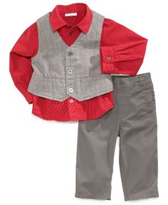 First Impressions Baby Set, Baby Boys 3-Piece Vest, Shirt and Pants - Kids Baby Boy (0-24 months) - Macy's