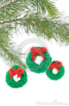 crochet DIY christmas ornaments crafts