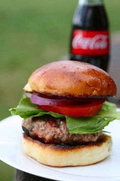 Turkey Burger Recipe  3 tbsp. olive oil, divided  1/3 cup finely chopped red onion  4 cloves garlic, minced  2 lbs. ground turkey  1 tsp. kosher salt  1 tsp. black pepper  ¼ cup chopped parsley  1 tbsp. minced fresh rosemary  1 tbsp. minced fresh sage  2 tsp. fresh thyme leaves