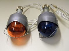 """AIRCRAFT NAVIGATION/POSITION LIGHTS, GRIMES, RED & BLU, 2"""" LENSES, WITH BULBS"""
