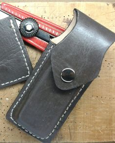 Handmade leather case for pocket knife