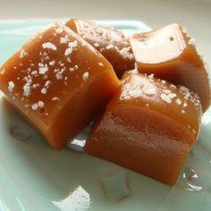 Sea Salt dusted Rose Caramels by IlluminariumBath on Etsy, $8.50