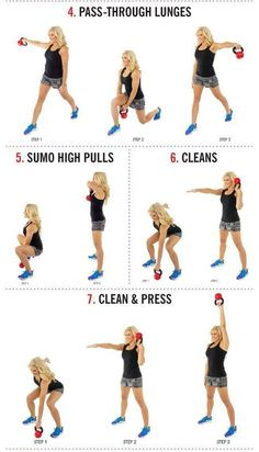 14 Kettlebell Calorie Blaster Workouts. Unlike the exercises with dumbbells or barbells, kettlebell exercises often involve large numbers of reps Kettlebell Workouts For Women, Kettlebell Cardio, Kettlebell Training, At Home Workouts, Kettlebell Challenge, Barbell Workout For Women, Kettlebell Routines, Full Body Kettlebell Workout, Kettlebell Benefits