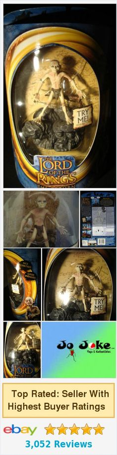 =LORD OF THE RINGS-SMEAGOL-SAYS MOVIE PHRASES-TOY BIZ-ROCK BASE-2003-UNIQUE-NEW! 35112811121 | eBay https://www.ebay.com/itm/371318164419