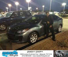 https://flic.kr/p/G1z4bu | Happy Anniversary to Mario on your #Mazda #Mazda3 from Greg Powell at Mazda of Mesquite! | deliverymaxx.com/DealerReviews.aspx?DealerCode=B979