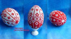 Яйцо красно-белое