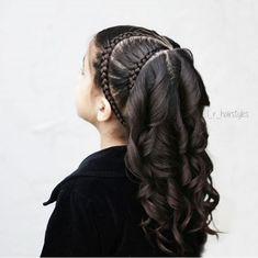 39 ideas hair ideas for girls hairdos Little Girl Braid Hairstyles, Kids Braided Hairstyles, Short Hair Updo, Pretty Hairstyles, Curly Hair Styles, Toddler Hairstyles, Sweet Hairstyles, Popular Hairstyles, Black Hairstyles