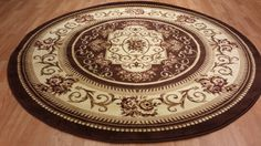AmazonSmile - Classic French Aubusson Traditional Medallion Brown Round Circular 8ft Area Rug Carpet - Machine Made Rugs - Synthetic - $252.00 & FREE Shipping