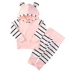 Cheap baby girl clothes, Buy Quality bebe clothing directly from China newborn baby girl clothes Suppliers: 2016 Cute Infant Newborn Baby Girl Clothes Hoodie Tops T-shirt Cotton Striped Pants Outfit Bebes Clothing Set Tracksuit Baby Girl Fashion, Toddler Fashion, Kids Fashion, Style Fashion, Latest Fashion, Fashion Trends, Carters Baby Girl, Baby Girl Newborn, Baby Girls